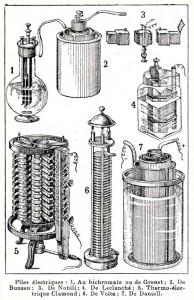 Les premières piles électriques dans Sources lumineuses pile-01-194x300